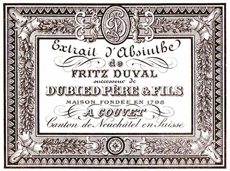 In 1872, Fritz Duval join Dubied and the distillery become
